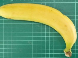banana on measuring board