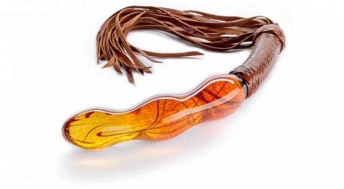 expensive glass dildo with whip