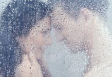 couple in shower having sex