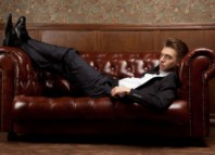 Stylish Alpha Male Lying On Couch