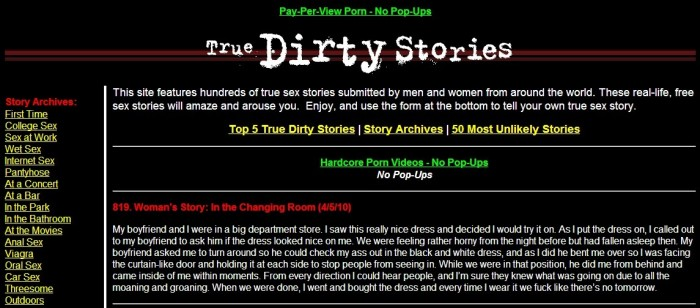 Very dirty sex stories