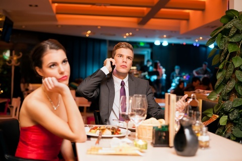 Bad First Date Between Man And Woman