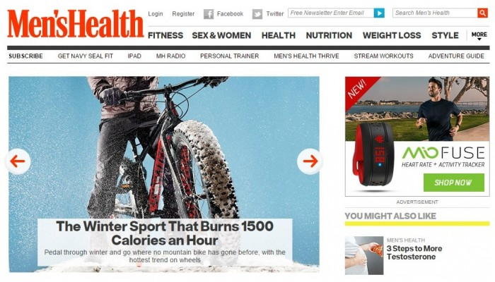 image of mens health site