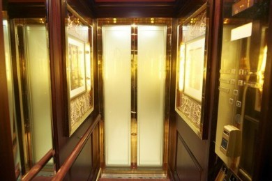 Inside Of A Luxurious Elevator