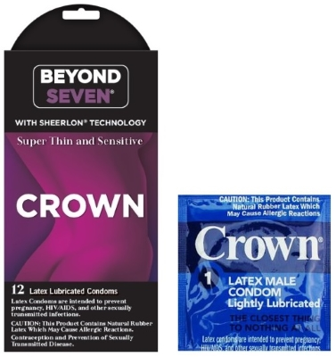 Beyond Seven Crown condom box