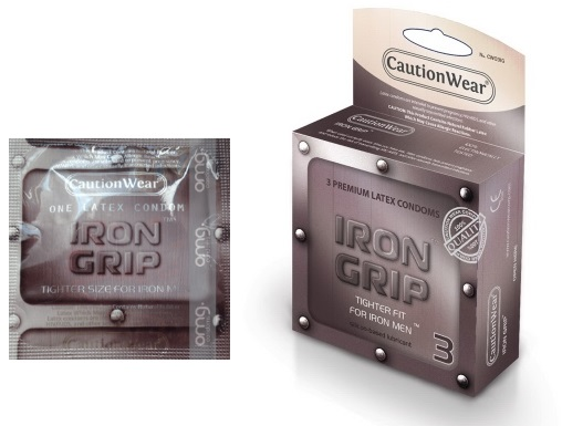 Iron Grip Condoms by Caution Wear