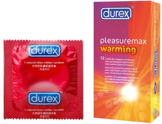 box of Durex Pleasuremax Warming Condoms