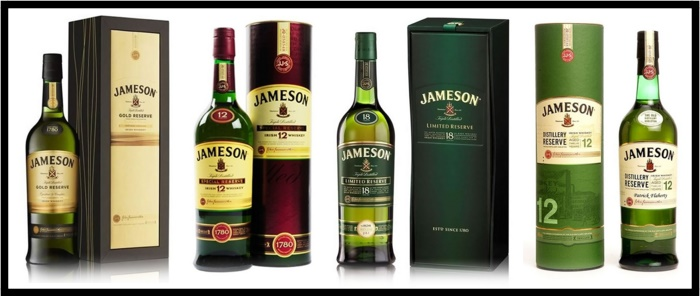 Jameson bottles