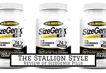 three plastic bottles of sizegenix pills