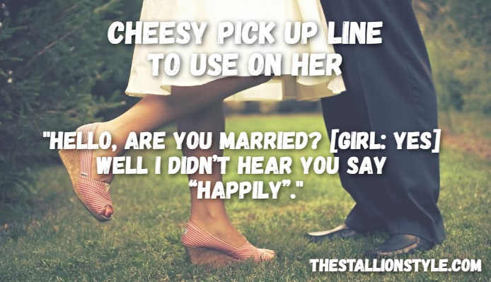 married man pick up line