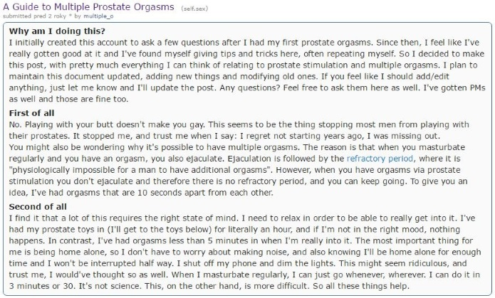 reddit on prostate massage