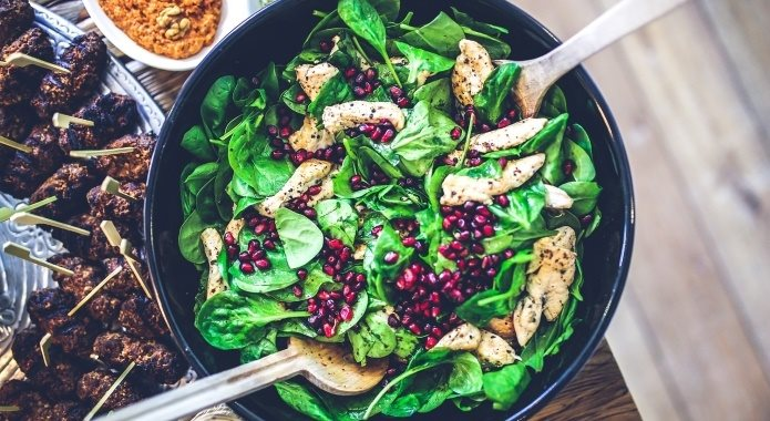 spinach-with-meat-salad-1