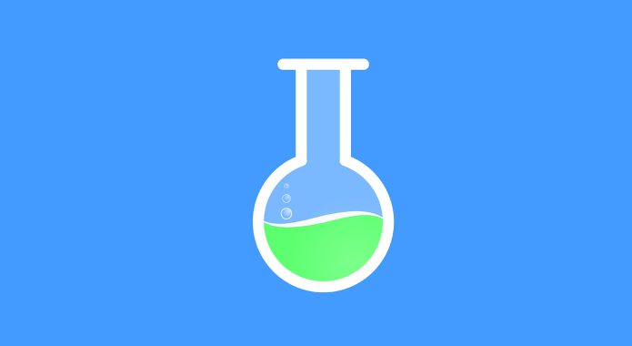 test tube for chemist desktop