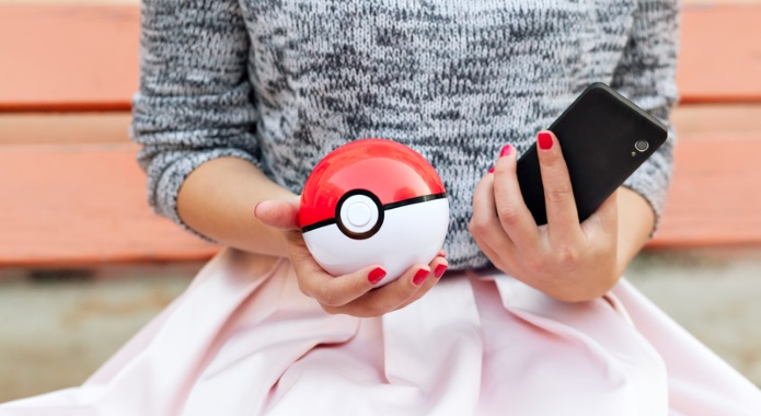 woman holding pokeball desktop