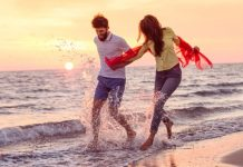 romantic scenery with couple desktop