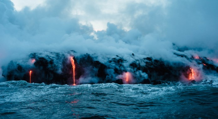 lava in sea