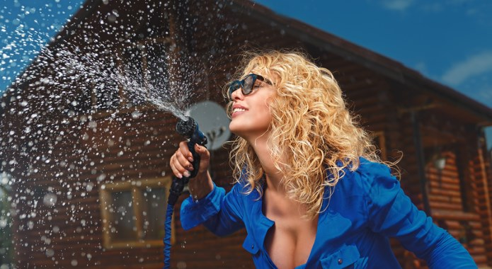 squirting from hose