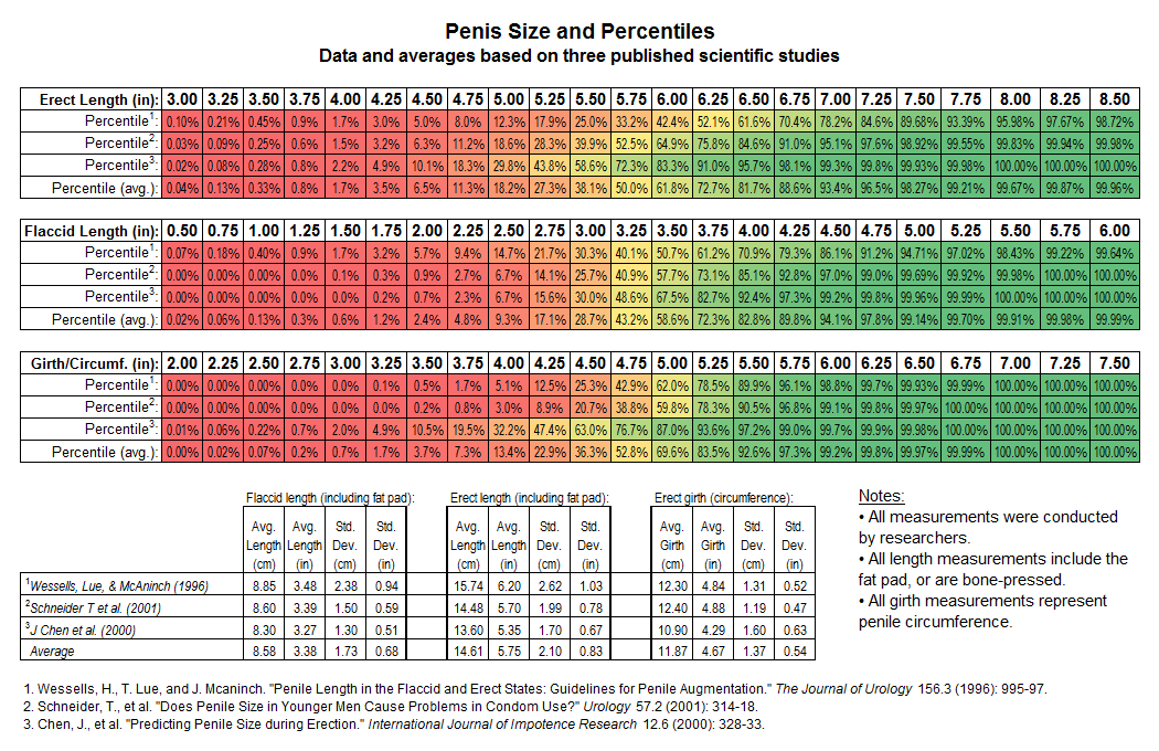 Penis Size Chart 3