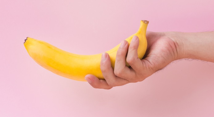 curved banana like a penis