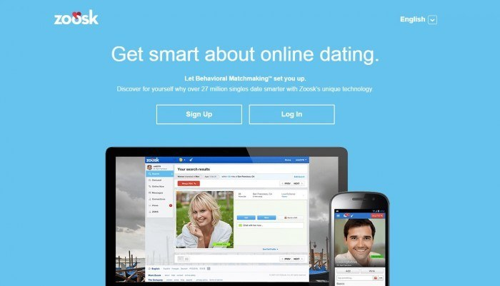 image of zoosk homepage