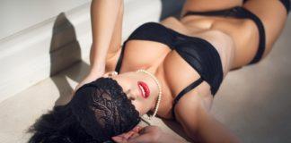 sexy female stimulating erogenous zones