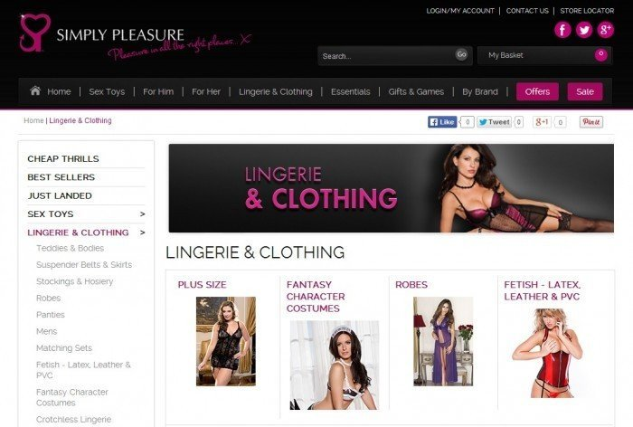Lingerie Eshop At Simply Pleasure