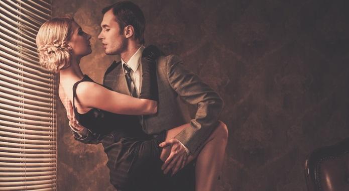 couple dancing romantically