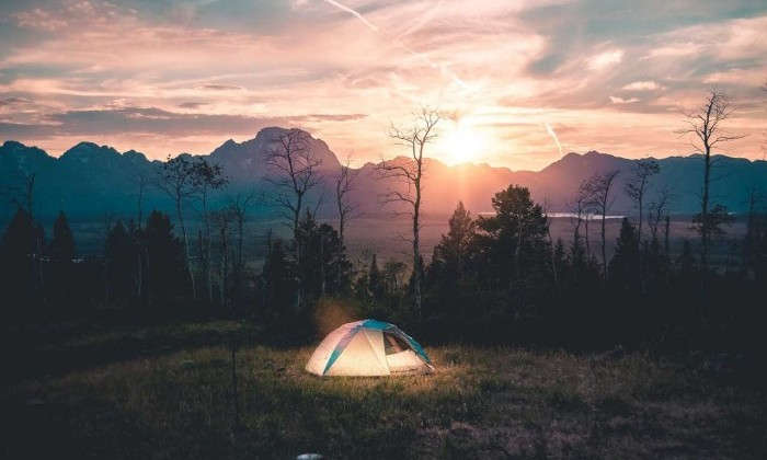 tent in wilderness