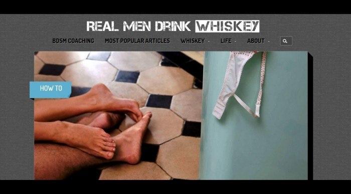 website image of real men drink whiskey