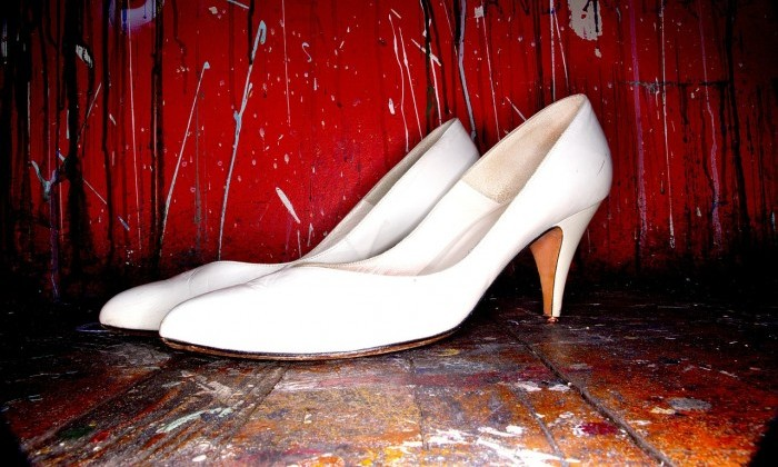 white stilettos female