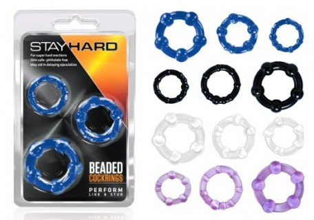 stay hard beaded cock rings
