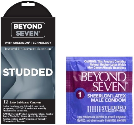 Beyond Seven studded condom box