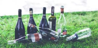 empty bottles from drinking game