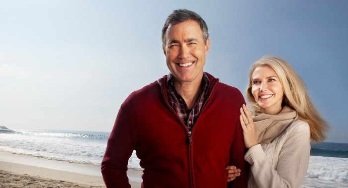 loyal couple on beach
