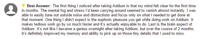 Yahoo answers response for Addium pills 2
