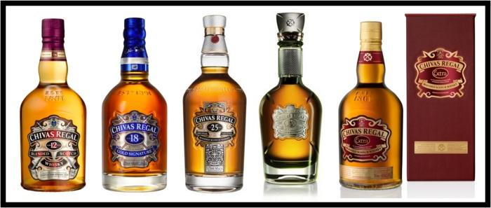 Chivas Regal bottles