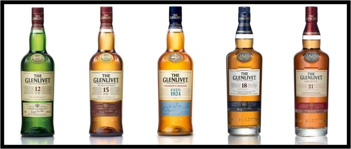 Glenlivet bottles