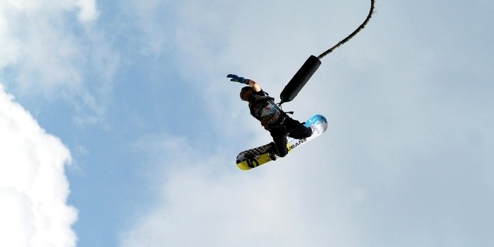 bungee jumping with board