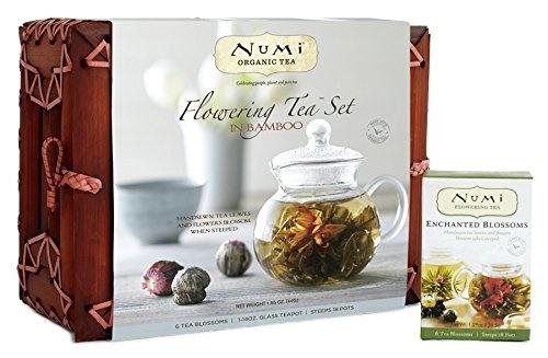 numi flowering tea set