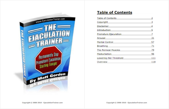 first pages of ejaculation trainer
