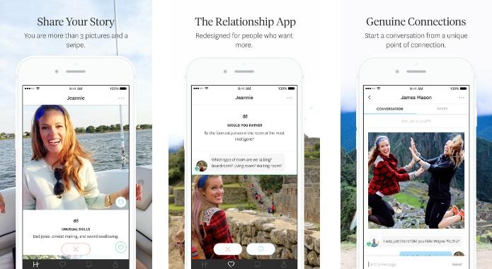 Hinge hook up app