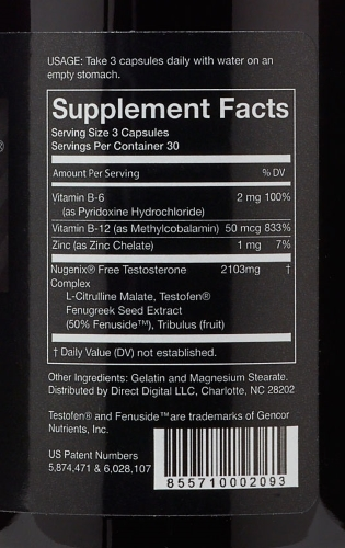 Nugenix ingredients