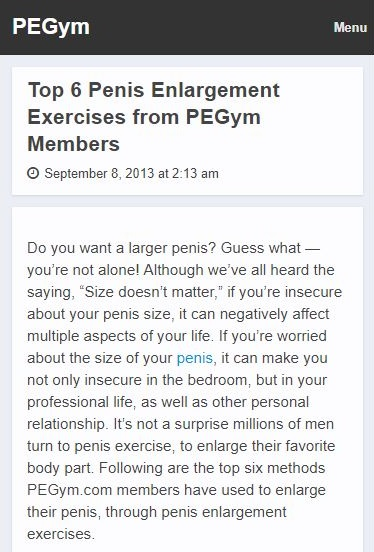 PEGYM penis exercises mobile