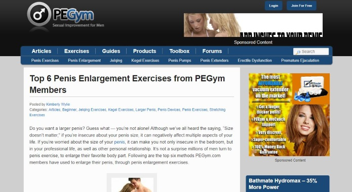 PEGYM penis exercises