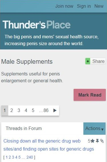 Thunders place male supplements mobile