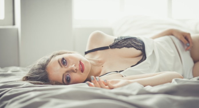 sensual girl on bed